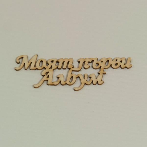 Надписи Моят първи албум - бирен картон (5бр.)