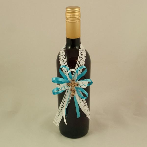Украса за кръщелно вино 06