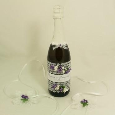 Украсена бутилка шампанско 01
