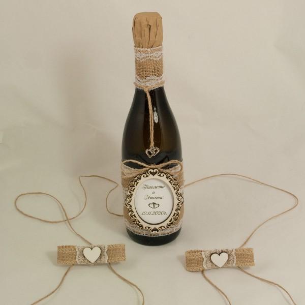 Украсена бутилка шампанско 04