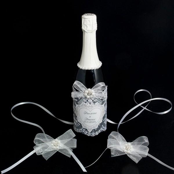 Украсена бутилка шампанско 05