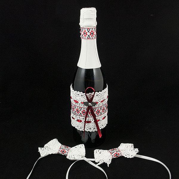 Украсена бутилка шампанско 09