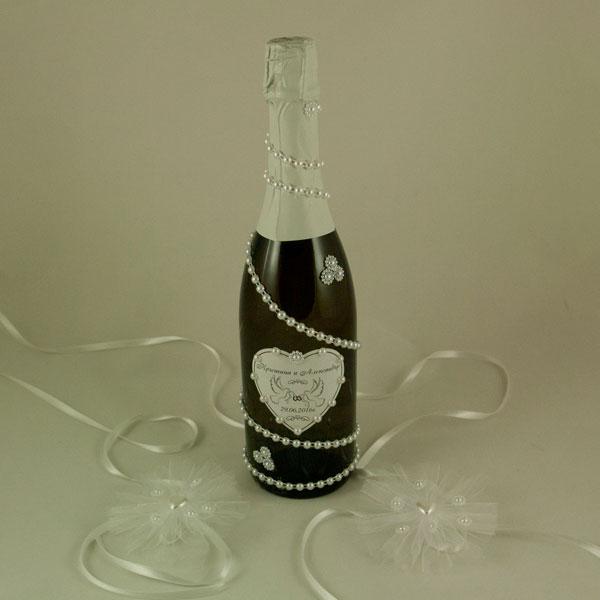 Украсена бутилка шампанско 11