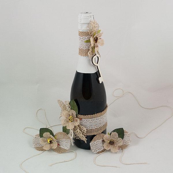 Украсена бутилка шампанско 12