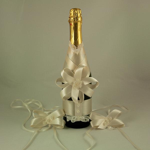Украсена бутилка шампанско 14