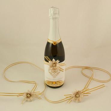 Украсена бутилка шампанско 15