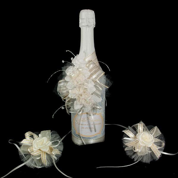 Украсена бутилка шампанско Г02