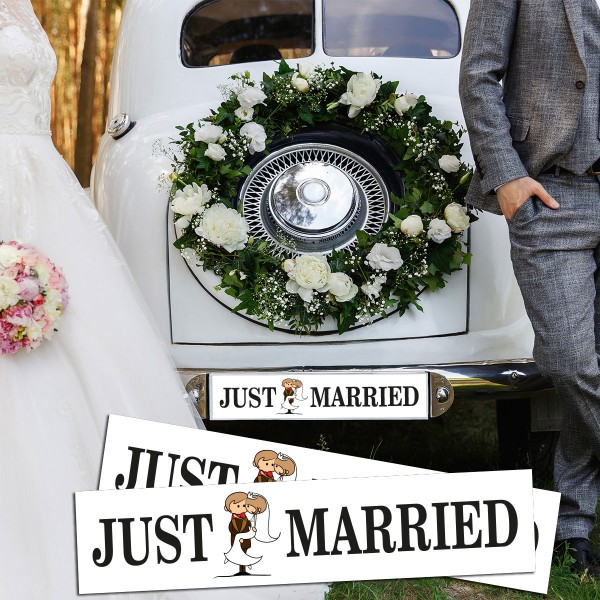 Сватбени стикери за автомобилни номера 11