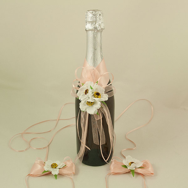 Украса за шампанско и чаши 07