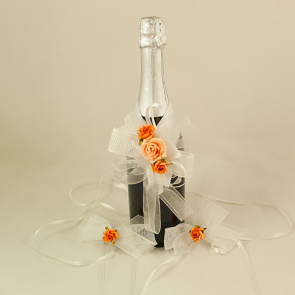 Украса за шампанско и чаши 13