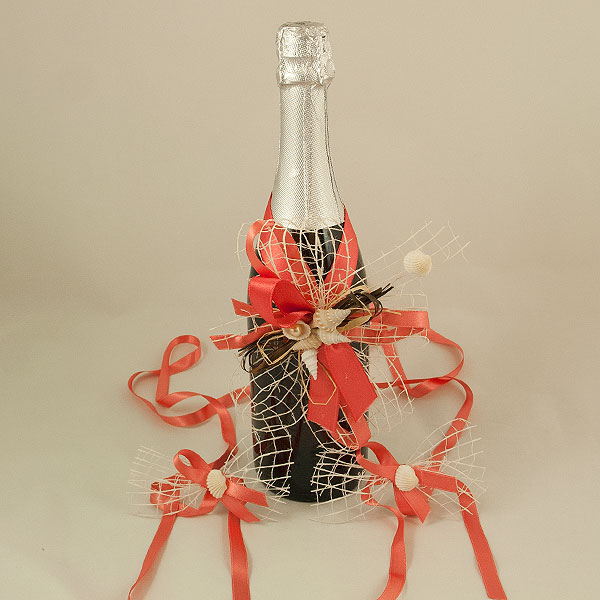 Украса за шампанско и чаши 18