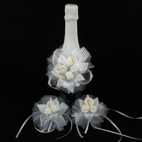 Украса за шампанско и чаши Д02