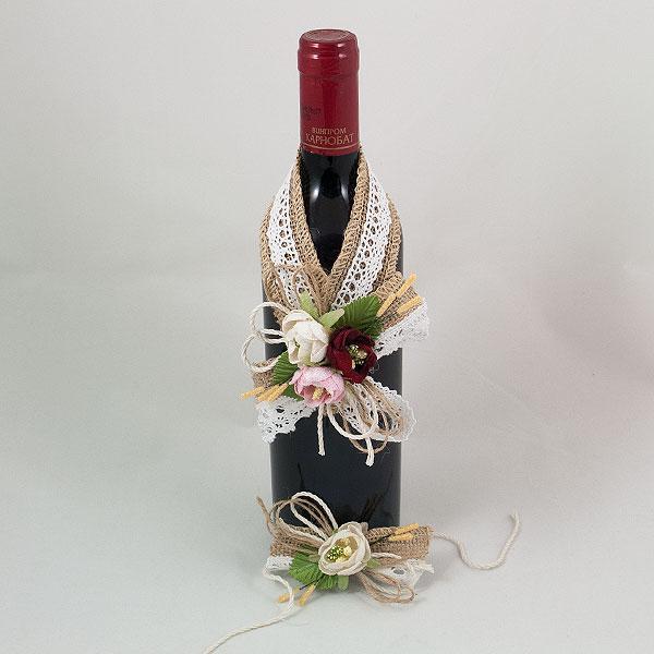 Украса за вино и бокал 03
