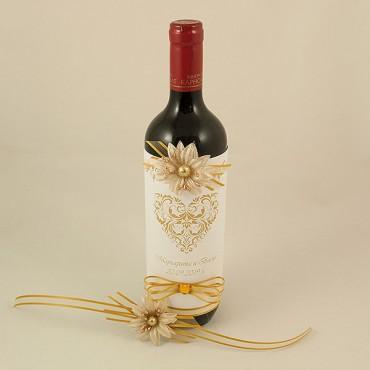 Украсена бутилка червено вино 02